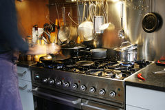 Reales Kochen Stockbild