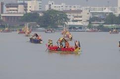 Reales tailandeses barge adentro Bangkok Imagen de archivo libre de regalías