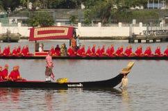 Reales tailandeses barge adentro Bangkok Imagen de archivo