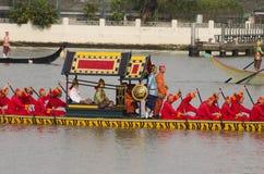 Reales tailandeses barge adentro Bangkok Foto de archivo