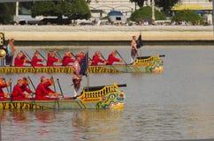 Reales tailandeses barge adentro Bangkok Fotos de archivo libres de regalías