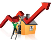Realestate economy Royalty Free Stock Images
