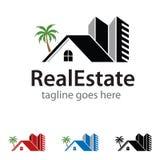 Realestate Logo Template Design Vector Lizenzfreie Stockbilder
