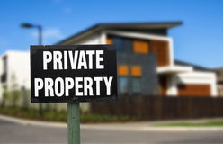 Realestate. Private property. real estate concept royalty free stock photography