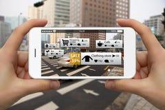 Realidad aumentada en el márketing fotos de archivo