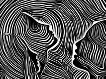 Realidad de líneas internas stock de ilustración