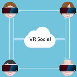 Realidad virtual Imagen de archivo libre de regalías