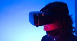 Realidad virtual 3D del vr 360 de Smartphone Imágenes de archivo libres de regalías