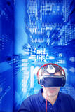 Realidad virtual de intercambio de datos imagen de archivo