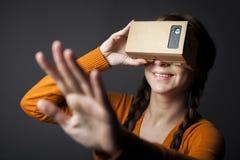 Realidad virtual de la cartulina Fotos de archivo