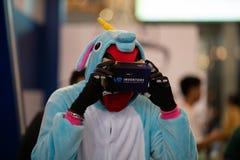 Realidad virtual de la estafa cómica de Bangkok foto de archivo libre de regalías