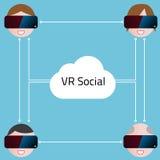 Realidade virtual Imagem de Stock Royalty Free