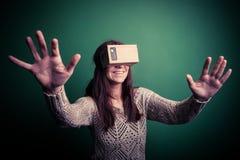 Realidade virtual do cartão Fotos de Stock