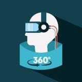 Realidade virtual lisa Fotografia de Stock