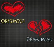 Realist en Pessimist Stock Afbeeldingen