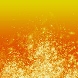 Fire on Orange Background. Realist glowing fire on an orange backdrop Royalty Free Stock Photography