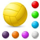Realiste Multi-colored di pallavolo Fotografie Stock Libere da Diritti