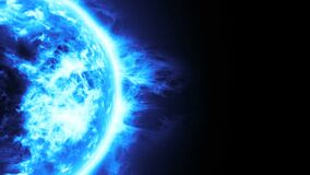 Free Realistic 3D Illustration Of Blue Planet, Frozen Planet Surface With Blue Flares,Highly Realistic Surface Burning Of Blue Sun Royalty Free Stock Photography - 189691377
