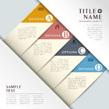 Realistic abstract 3d paper infographics Royalty Free Stock Images