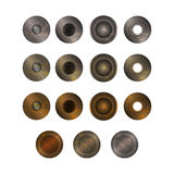 Realistic Accessories Metal Jeans Button or Rivets Set. Vector Stock Photo