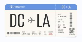 Realistic airplane template. Modern airline admission. Boarding pass illustration. Realistic airplane template. Modern airline admission. Boarding pass vector illustration