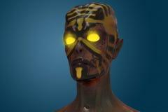 Realistic Alien. 3D digital illustration. Stock Photos
