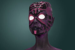 Realistic Alien. 3D digital illustration. Royalty Free Stock Photography