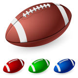 Realistic American football Royalty Free Stock Photo