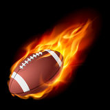 Realistic American football in the fire Royalty Free Stock Image
