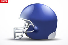 Realistic American football helmet. Side view Royalty Free Stock Images