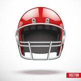 Realistic American football helmet vector Royalty Free Stock Photos