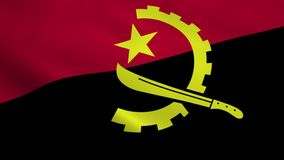 Realistic Angola flag stock footage