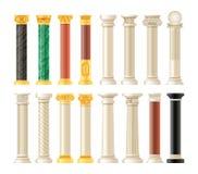 Free Realistic Antique Pillars Set. Antique Column, Classic Pillar. Stock Photos - 182798553