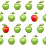Realistic apples seamless pattern. Realistic red and green apples seamless pattern Stock Illustration