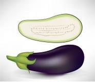 Realistic aubergines Stock Image