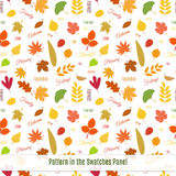 Realistic autumn leaves seamless pattern. Bright seamless pattern design with colorful autumn leaves of different trees. Ecology concept Stock Photography