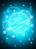 Realistic background with bright highlights, blue christmas background. Background Christmas. Vector illustration Stock Images