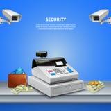 Surveillance Camera Realistic Background royalty free illustration