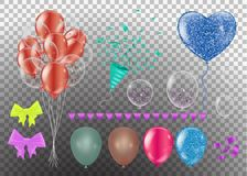 73b4134e7a7 Realistic balloons set. 3d balloon different colors