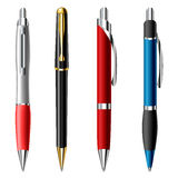 Realistic ballpoint pen set Royalty Free Stock Image