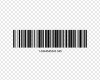 Realistic bar code. Icon isolated on background Stock Photos