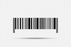 Realistic barcode vector icon with shadow on transparent background Royalty Free Stock Photography