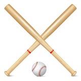 Realistic baseball bats and ball Stock Photo