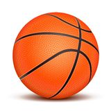Realistic basketball ball  on white background. Stock Photo