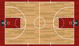 Realistic Basketball Court Illustration Stock Photo