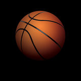 Realistic Basketball Illustration Sitting in Shadows Stock Photography