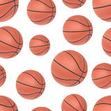 Realistic basketball seamless pattern Stock Images