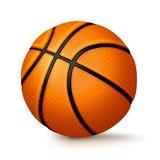 Realistic Basketball  on White Background Illustration Royalty Free Stock Photography