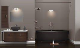 Realistic Bathroom Interior Design Stock Image