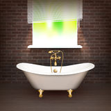 Realistic Bathroom Poster Royalty Free Stock Photo